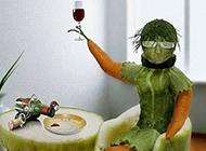 极致创意霸气的蔬菜人
