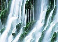 飞流直下的瀑布山水风景高清图集