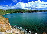 夏威夷海滨蓝绿相接唯美风景