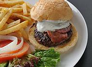 美味好吃的牛肉汉堡图片