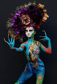 令人惊叹的国际人体艺术彩绘组图