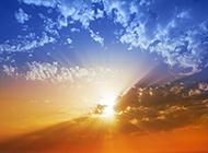 夏日黄昏夕阳美景高清图片