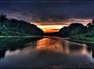 如诗般山水夜景精美壁纸