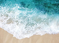 巴厘岛唯美白色沙滩海浪风景图片大全