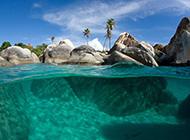 加勒比海岸线风景壁纸欣赏