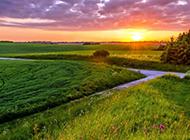 大自然唯美高清日出风景意境图片