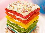 好看的甜密彩色蛋糕美食图片