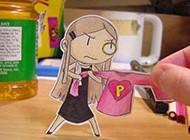 可爱趣味小纸人创意图片