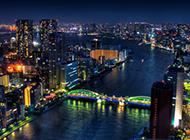 五彩缤纷东京夜景高清图片