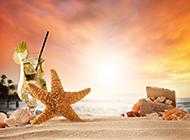 海边沙滩唯美度假风景高清图片