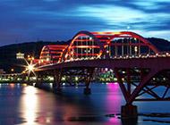 唯美城市桥梁户外风景壁纸