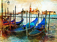 意大利历史名城威尼斯水城美丽风景图片