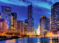 美国城市建筑风景图片辉煌璀璨