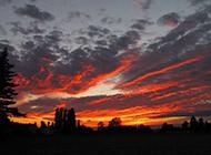 美丽的晚霞天空风景壁纸赏析
