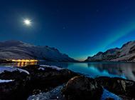 唯美夜空意境图片绚烂梦幻