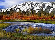 加利福尼亚山边风景图片赏析