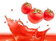 冰镇溅起番茄汁精美图片