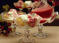 夏季甜品水果冰淇淋图片