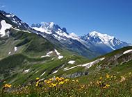 阿尔卑斯山脉绿色高山风景精致桌面壁纸
