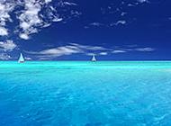 碧海蓝天唯美海滨海景图片