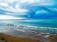 精美蓝天白云的海景桌面壁纸