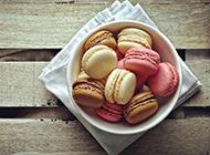 玛卡龙小圆饼夹心饼干甜点美食图片