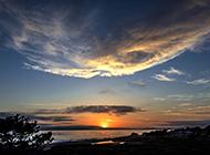 唯美的海边日出风景图片