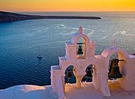 人间天堂圣托里尼岛美丽风光高清图片