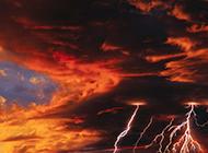 户外闪电奇特景象天文奇观图片