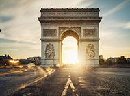巴黎名胜古迹凯旋门梦幻唯美图片