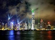 香港维多利亚港夜景闪耀夺目