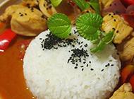 咖喱鸡肉拌饭美味东南亚美食