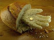 奇葩图片搞笑面包手