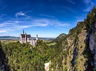 巴伐利亚新天鹅堡建筑景观自然风光图片