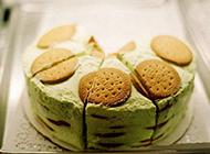 抹茶味蛋糕雪糕美食图片