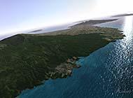 夏威夷空中俯视全景高清组图