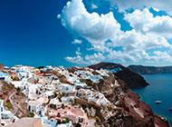 希腊爱琴海唯美海岛风景图片