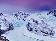 冬天雪山风景图片云雾迷茫