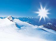 精美的阿尔卑斯山冬天美景图片