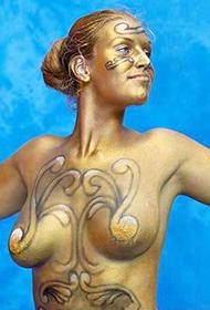 不可思议的外国人体彩绘图