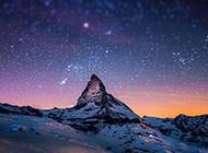 美丽浪漫夜空图像闪亮迷人