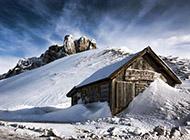 银装素裹的迷人雪景3d壁纸