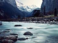 绚丽怡人山脉河流精美壁纸赏析