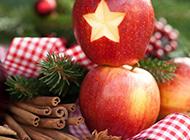 圣诞夜鲜红苹果精美水果图片