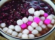 美味的台湾著名甜品芋圆摄影图片