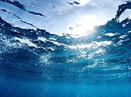 梦幻蓝色海景高清摄影图片