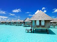美丽迷人的马尔代夫海景图片