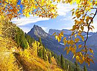 山间溪流唯美风景图片