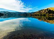 湖光山色自然风光高清图片