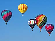 飘荡在空中的热气球高清图集